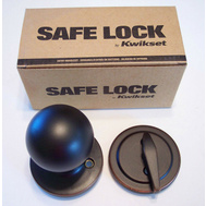 Kwikset SK1150RG 11P Safe Lock Regina Interior Handleset Trim Pack And Dummy Venetian Bronze