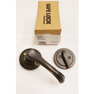 Kwikset SL 1150GV 11P Safe Lock Grapevine Interior Lever Handleset Trim Pack And Dummy Venetian Bronze