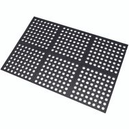 Lanart Rug Inc HOLM2436 Anti Fatigue Rubber Floor Mat 24 By 36 Black