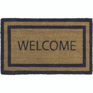 Lanart Rug Inc CORRBW2436 Mat Welcome 24X36in Coco