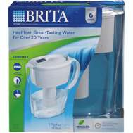 Brita 35250/35566 6 Cup Water Filtration Space Saver Pitcher