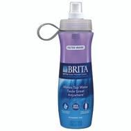 Brita 35663 20 Ounce Squeezable Water Filtration Bottle Violet