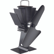 Caframo 800CAXBX Original Wood Stove Fan Black With Black Blade