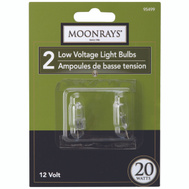 Coleman Cable 95499 Moonrays Bulb Halogen Lv 2Pn T3 Clr 20W 2 Pack