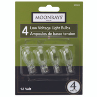Coleman Cable 95503 Moonrays Bulb Repl 4W Clr 4/Pk 4 Pack