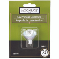 Coleman Cable 95508 Moonrays Bulb Halogen Mr11 Lv 2 Pin 20W