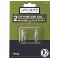 Coleman Cable 95517 Moonrays Bulb Halogen Lv 2Pn T3 Clr 10W 2 Pack