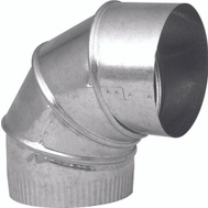 Imperial Manufacturing GV0284-C 4 Inch 26 Guage Galvanized Elbow