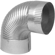 Imperial Manufacturing GV0323 Elbow Pipe 90Deg 30Ga 4In Glv