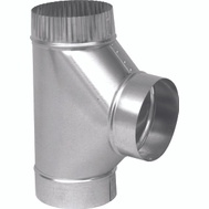 Imperial Manufacturing GV0892 6 Inch 26 Gauge Galvanized Stove Pipe Tee