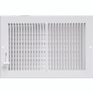 Imperial Manufacturing RG0289 Register Sidewall Wht 10x4in