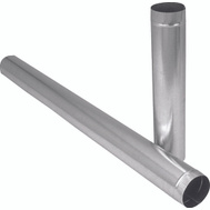 Imperial Manufacturing GV0362-A 4 Inch By 60 Inch 30 Gauge Galvanized Pipe