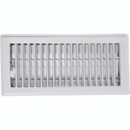 Imperial Manufacturing RG0247 Register Floor 4X10in Wht