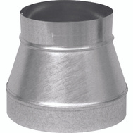 Imperial Manufacturing GV1196 4 By 3 26 Gauge Galvanized No Crimp Reducer