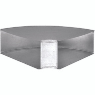 Imperial Manufacturing GV0092-C Galvanized Wall Stack Angle Elbow 90 Degree Longway 10 Inch By 3 1/4 Inch