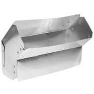 Imperial Manufacturing GV0048 Galvanized Wall Stack Angle 45 Degree Shortway 10 Inch By 3 1/4 Inch