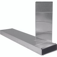Imperial Manufacturing GV0213 Galvanized Wall Stacker 10 Inch By 3 1/4 Inch By 24 Inch
