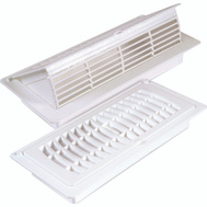 Imperial Manufacturing RG3052 Register Pop-Up 4X10in Wht