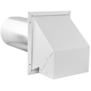 Imperial Manufacturing VT0503 Hood Exhaust/Intake White 6in