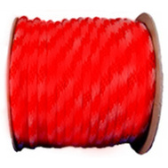 Richelieu America 302641TV 5/8 Inch By 200 Feet Red Braided Polypropylene Ropee 225 Pound Rated