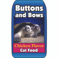 Sunshine Mills 10019/70155 Buttons & Bows 40 Pound Chicken Flavor Dry Cat Food