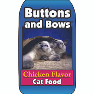 Sunshine Mills 10224 Buttons & Bows 20 Pound Chicken Flavor Dry Cat Food
