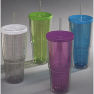 Arrow Plastics 00015 Tumbler Double Wall 24 Ounce