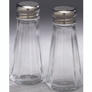 Arrow Plastics 00828 Salt/Pepper Clear Glass 3 Ounce