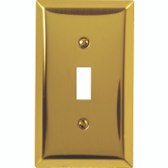 AmerTac 163TBR Century Toggle Switch Wall Plate 1 Gang Bright Brass