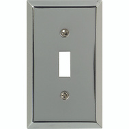 American Tack & Hardware 161T Traditional Square Corner Toggle Wall Plate Chrome