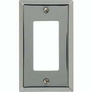 AmerTac 161R Amerelle Traditional Square Corner Single Rocker Gfci Wall Plate Chrome