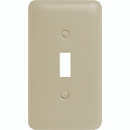 AmerTac 935TAL Amerelle Devon Toggle Switch 1 Gang Wall Plate Almond