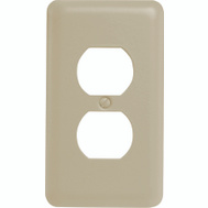 American Tack & Hardware 935DAL Single Duplex Wall Plate Almond
