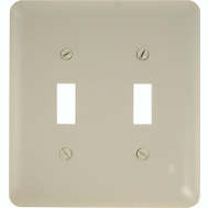 AmerTac 935TTAL Amerelle Devon Toggle Switch 2 Gang Wall Plate Almond