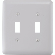 American Tack & Hardware 935TTW Double Toggle Wall Plate White