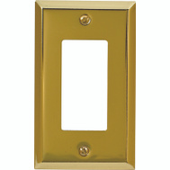 AmerTac 163RBR Amerelle Century Rocker-GFCI Wall Plate 1 Gang Bright Brass