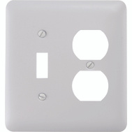 AmerTac 935TDW Amerelle Devon Toggle And Duplex 2 Gang Wall Plate White