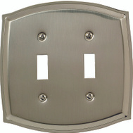 AmerTac 76TTN Amerelle Sonoma Double Toggle Solid Brass Wall Plate Polished Nickel