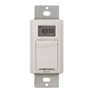 AmerTac TMDW30 Westek Programmable Indoor Digital Wall Switch Timer 120 Volt 1800 Watt White
