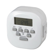 AmerTac TE1606WHB Westek Programmable Digital Timer 15 Amp 120 Volt 2 Outlet 7 Day Time Setting White