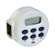 AmerTac TE1655WHB Westek Weekly Programmable Digital Bar Timer 15 Amp 120 Volt White
