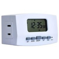 AmerTac TE1602WHB Westek Polarized Digital Timer 8 Amp 120 Volt 7 Day Time Setting White
