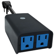 AmerTac SMARTPLUG2A Westek WIFI Outdoor 2-Outlet Timer Black