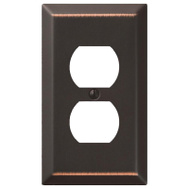 AmerTac 163DDB Amerelle Century Duplex Receptacle Wall Plate 1 Gang Aged Bronze