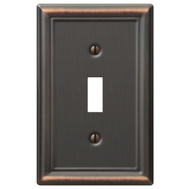 AmerTac 149TDB Amerelle Chelsea Toggle Wall Plate 1 Gang Aged Bronze