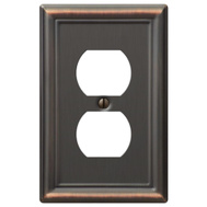 AmerTac 149DDB Amerelle Chelsea Duplex Receptacle Wall Plate 1 Gang Aged Bronze