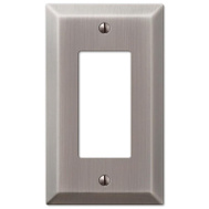 AmerTac 163RAN Amerelle Century Rocker-GFCI Wall Plate 1 Gang Antique Nickel