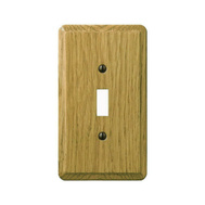 AmerTac 901TL Amerelle Contemporary Toggle Switch 1 Gang Light Finish Oak Wood