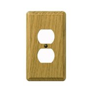 AmerTac 901DL Amerelle Contemporary Duplex Receptacle 1 Gang Light Finish Oak Wood
