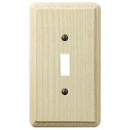 AmerTac 401T Amerelle Contemporary Toggle Switch Wall Plate 1 Gang Unfinished Ash
